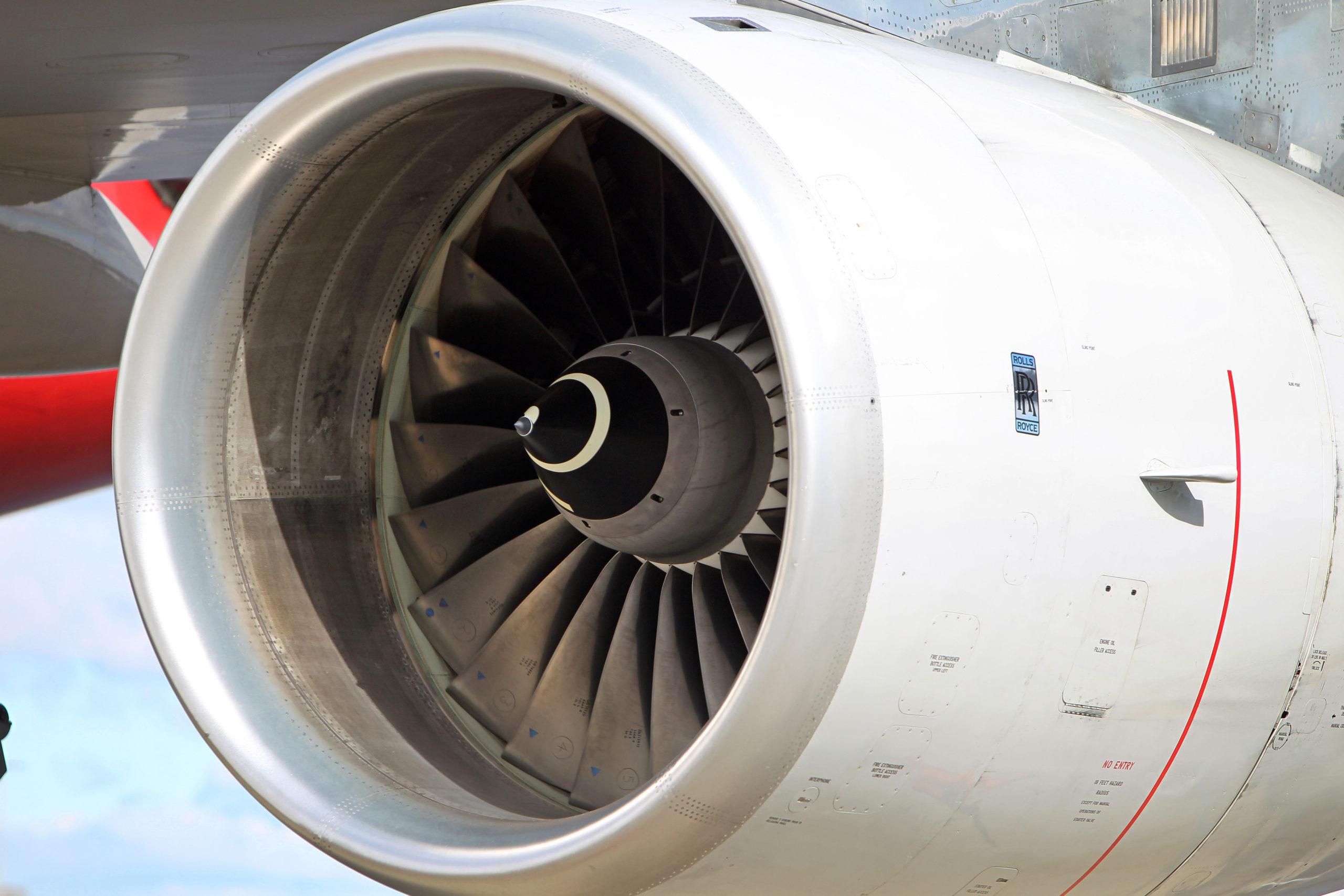 An aircraft jet engine.