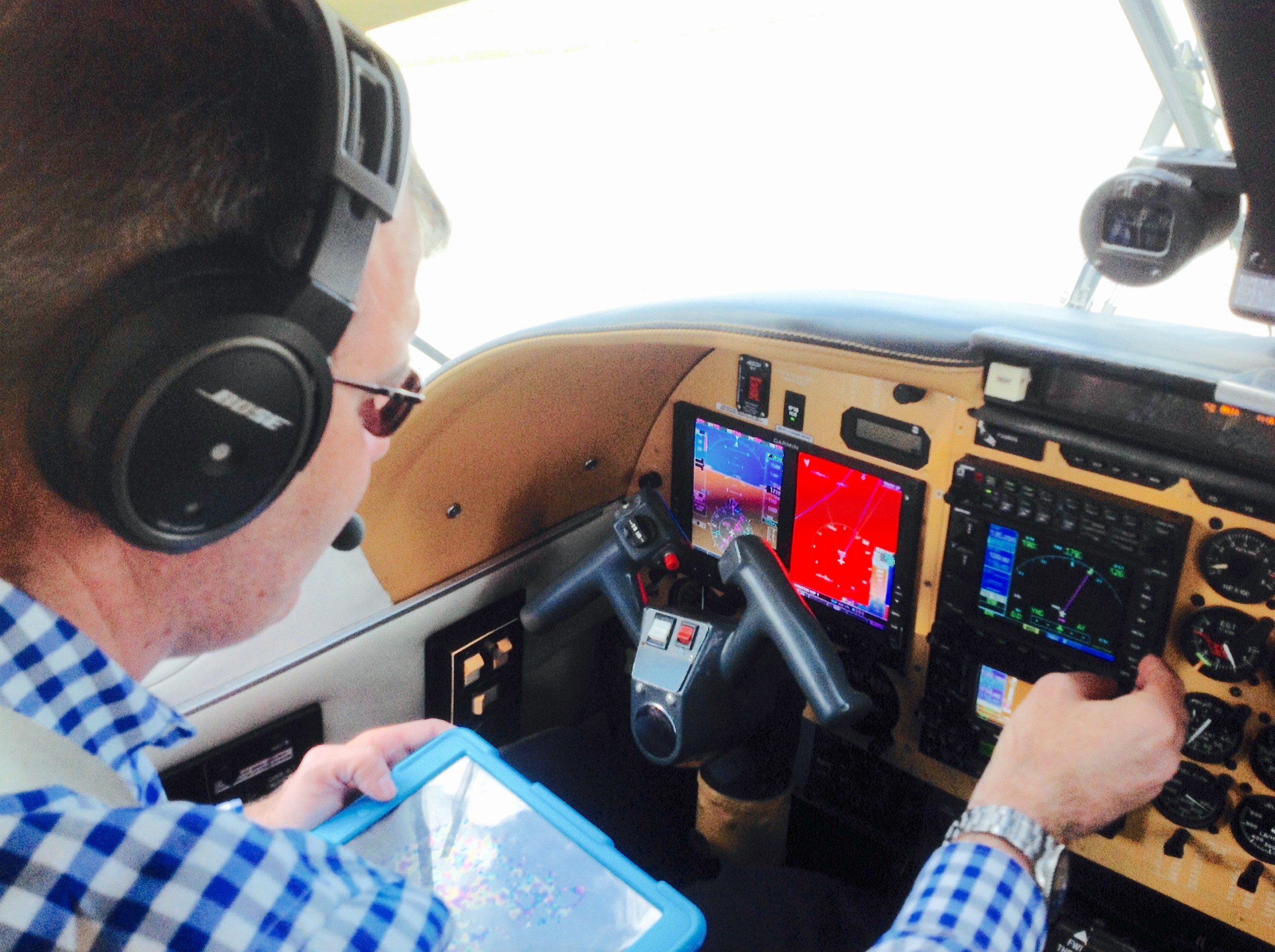 A Chief Pilot from Archerfield in his GNSS-fit aircraft