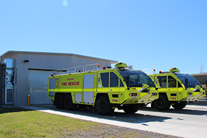 Coffs Harbour Airport fire fighting station