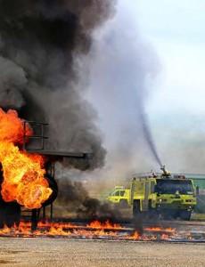 ARFF_truck_fire