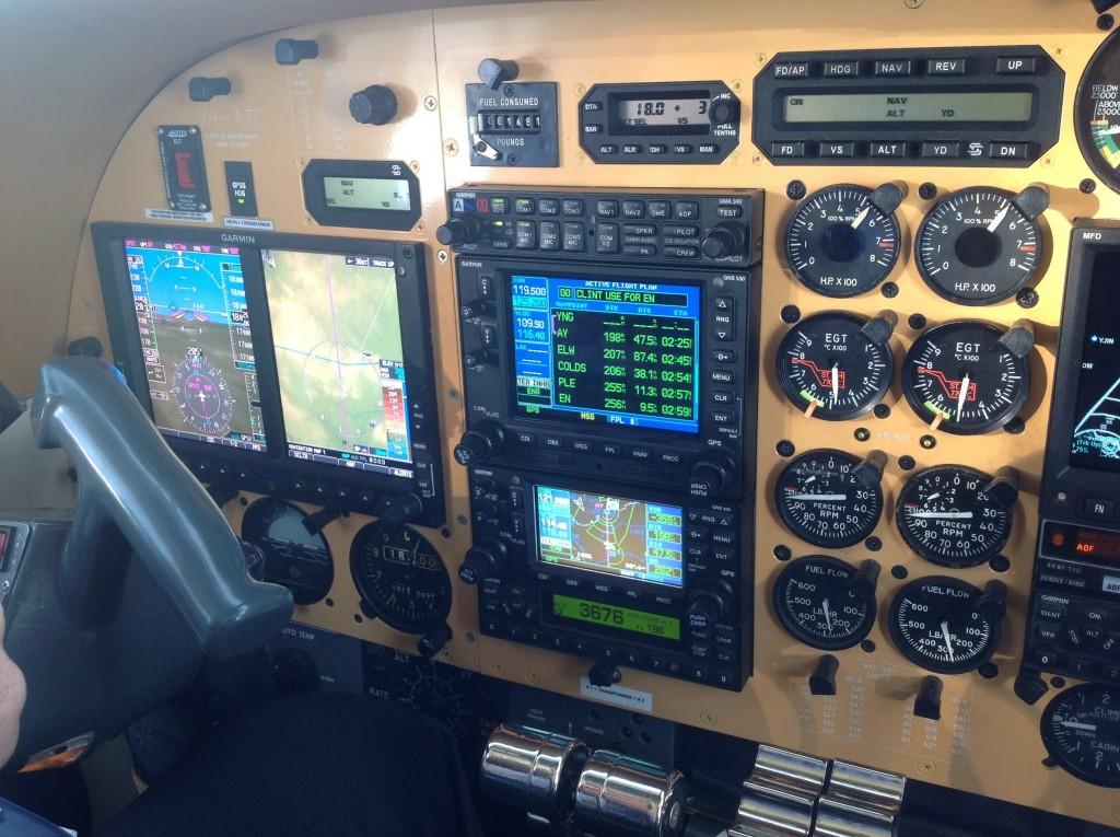 Aero Commander YBAF to YMEN Trip Control Panel