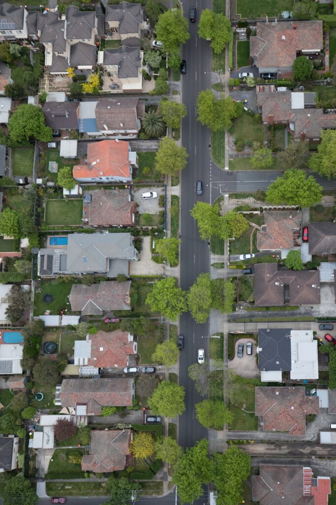 Houses from above