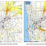 Jet Arrivals: March 2008 v March 2009