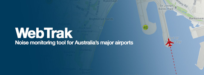 WebTrak Noise monitoring toll for Australia's major airports