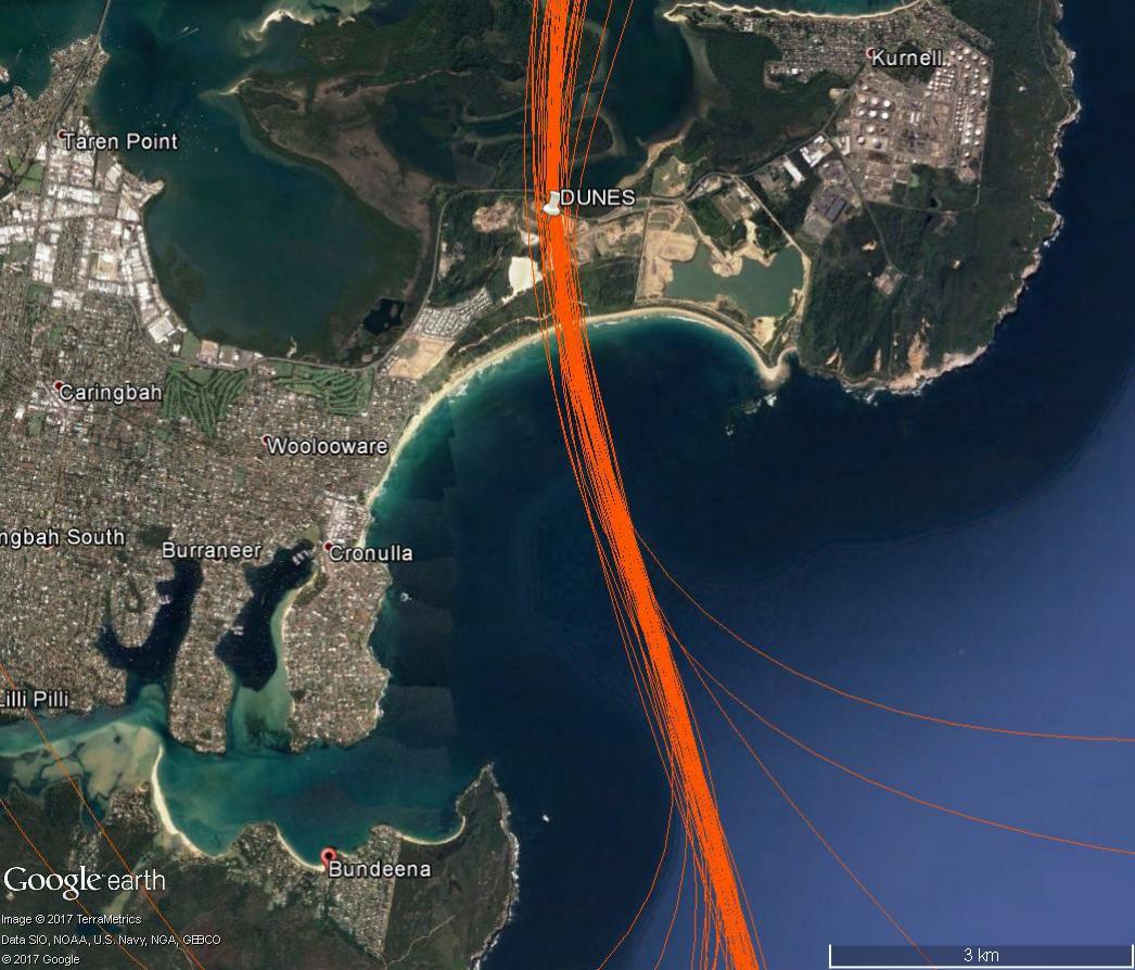 Post-change flight path